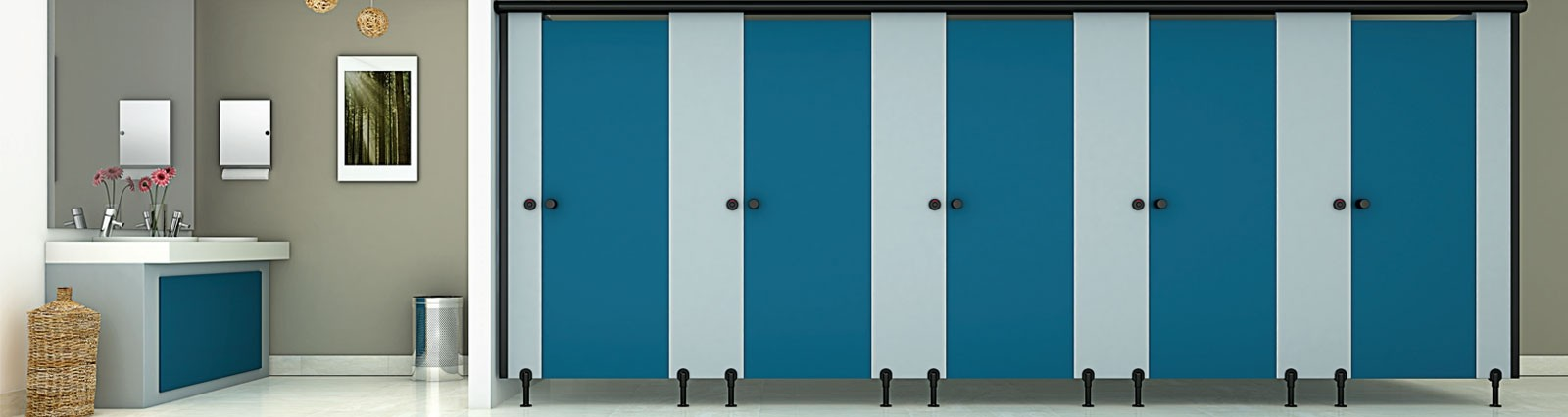 Restroom Cubicles & Locker Solutions